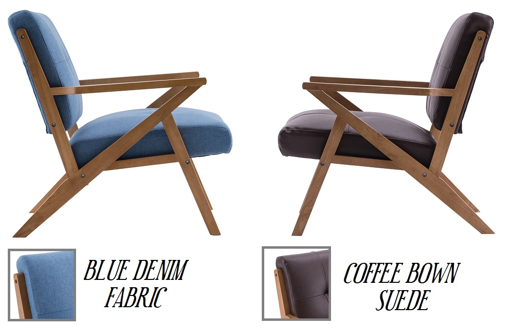 suede vs fabric armchairs