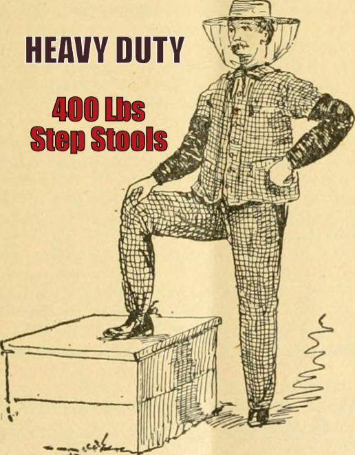 Heavy Duty Step Stools 400 lbs Weight Capacity