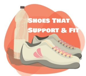 running shoes should be supportive and fit