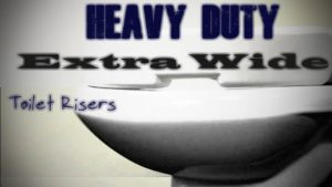 Heavy Duty Extra Wide Toilet Seat Risers