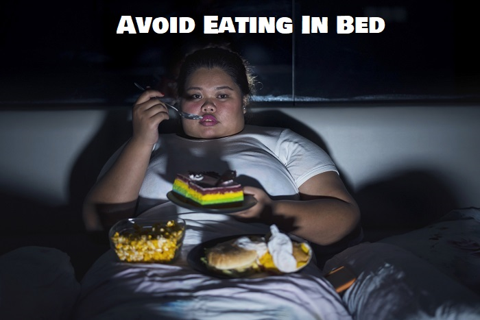 Fat Person Eating In Bed